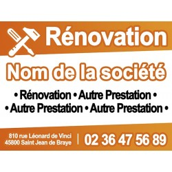 Panneau de chantier RENOVATION