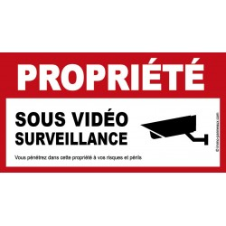 Panneau SOUS VIDEO SURVEILLANCE