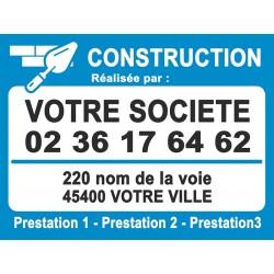 Panneau de chantier pour CONSTRUCTION