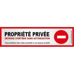 Autocollant Propriété Privée