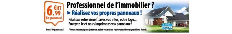 Panneau Agence Immobilière dès 4,90€ ! Panneaux A VENDRE et panneaux A LOUER pour agences immobilières.