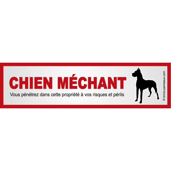 Autocollant ATTENTION AU CHIEN