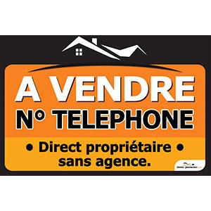 Banderole A VENDRE 120x80 | N° Tél. Personnalisable